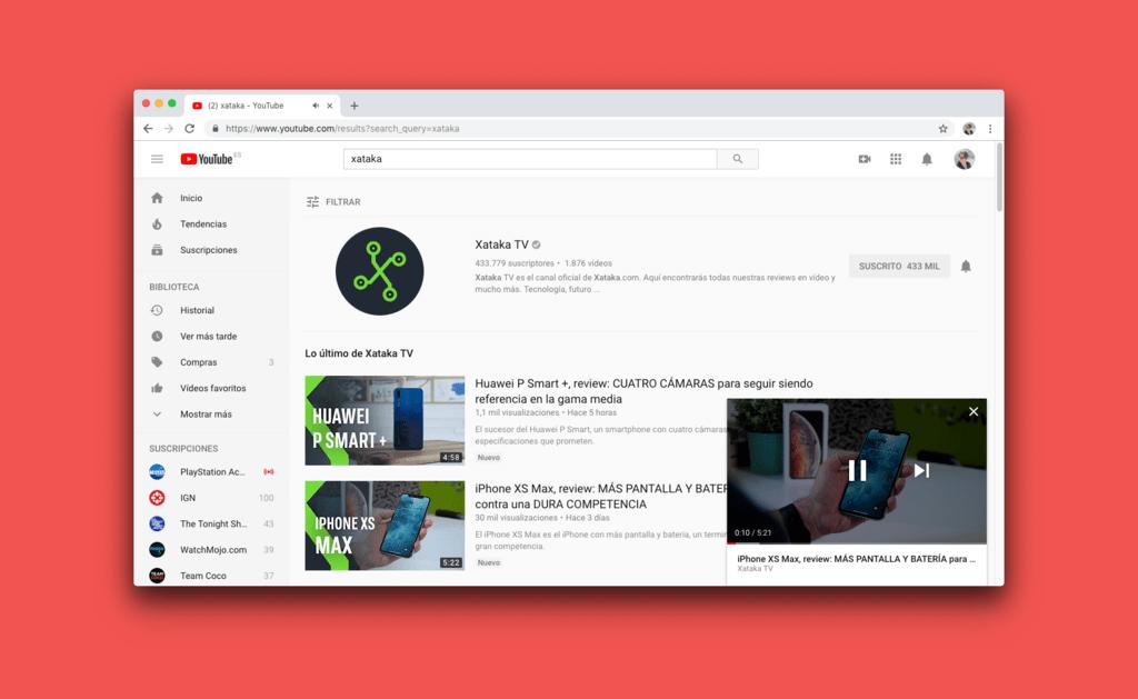 Cómo activar el nuevo minireproductor de YouTube