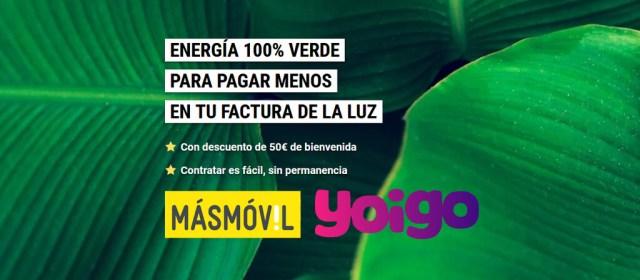 El Grupo MásMóvil quiere impulsar su energía con hasta 50 euros(EUR) de descuento en EnergyGo de Yoigo℗ y MásMóvil Energía
