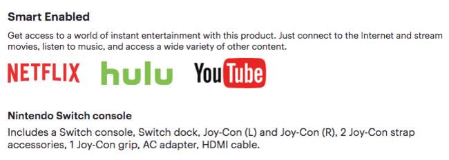 Nintendo Switch Netlix Hulu Youtube