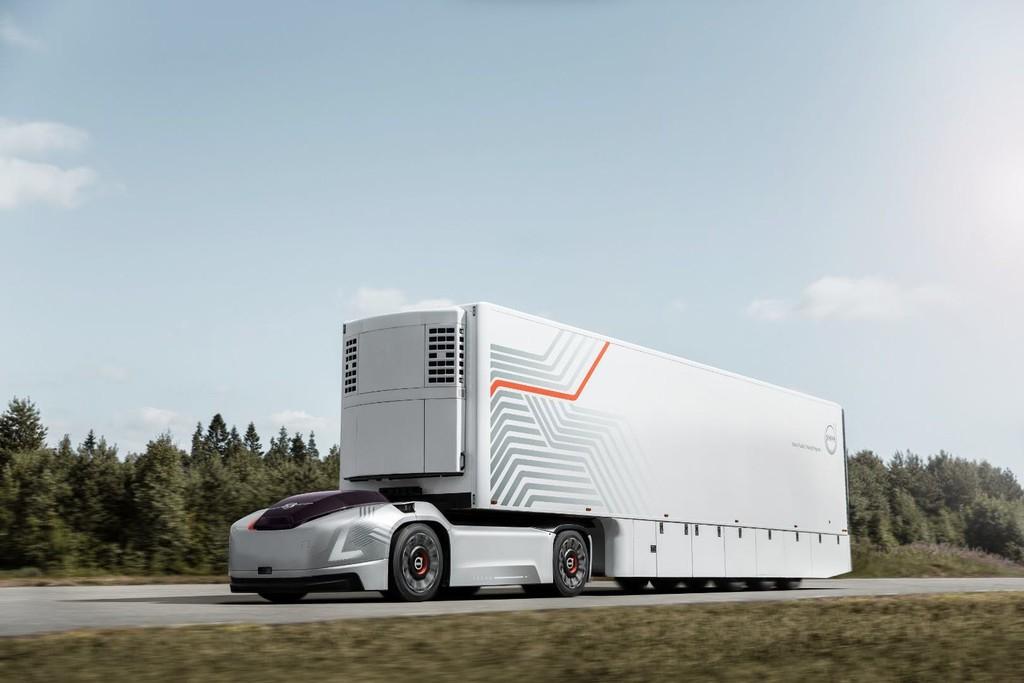 Permalink to El nuevo concepto futurista de camión eléctrico de Volvo no necesita cabina ni conductor, porque también es autónomo