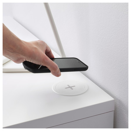 Rällen from IKEA, wireless charging for your mobile phone without a single visible cable