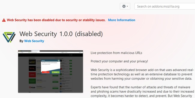 Web Security Eliminada