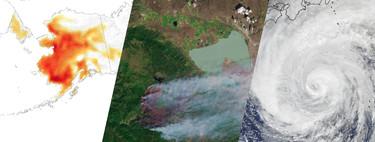 Supertifones, olas de calor extremas o devastadores incendios: así se ve desde el espacio el clima extremo que sufre La Tierra