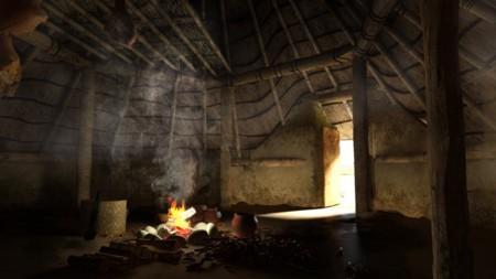 Interior Of A Virtual Reality Bronze Age