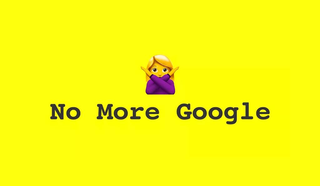 'No More Google': opciones para los que no quieren usar los beneficios de la compañia