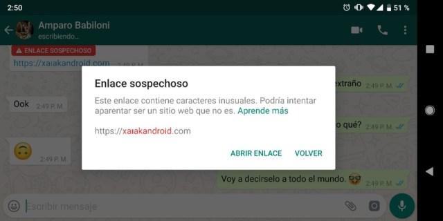 Whatsapp Enlace Sospechoso