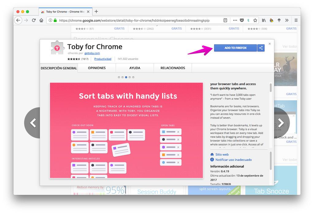 Instalar Toby En Firefox