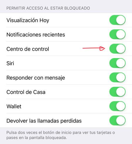 Desactivar Centro De Control Iphone Bloqueado