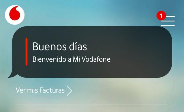 La app Mi Vodafone® añade la sección Mi Cuenta para entrar a datos personales, medios de pago, permanencias y privacidad