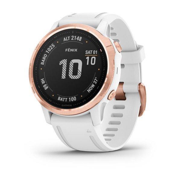 "Garmin Fénix 6S Pro White - 1.2"", ABC sensors, Freq.  Cardiac, Maps, PacePro, GPS, ClimbPro, WiFi"