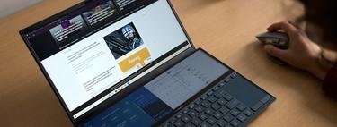 ASUS Zenbook Duo, análisis: imitar el trabajo de un PC de sobremesa con dos monitores ha sido un éxito