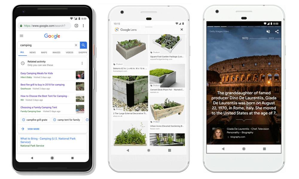 Google se suma a la moda de lo visual con historias a lo Instagram, busqueda en fotografias mediante IA y más