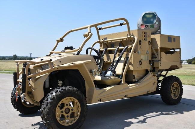 Permalink to Este vehículo está equipado con un cañón láser capaz de fulminar a cualquier drone que se le acerque
