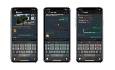 WhatsApp modo oscuro iOS