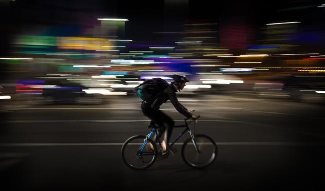 Mensajero Ciclista Comida Domicilio