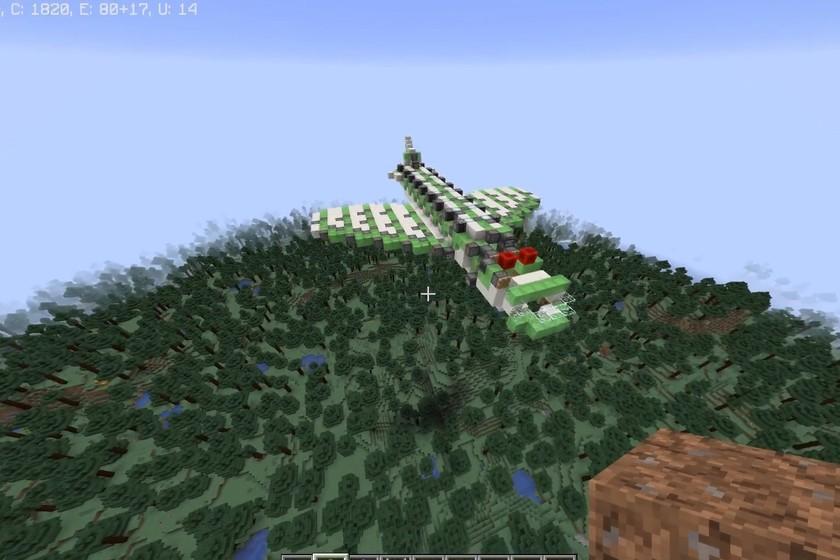 Construyen un impresionante avión que funciona en Minecraft