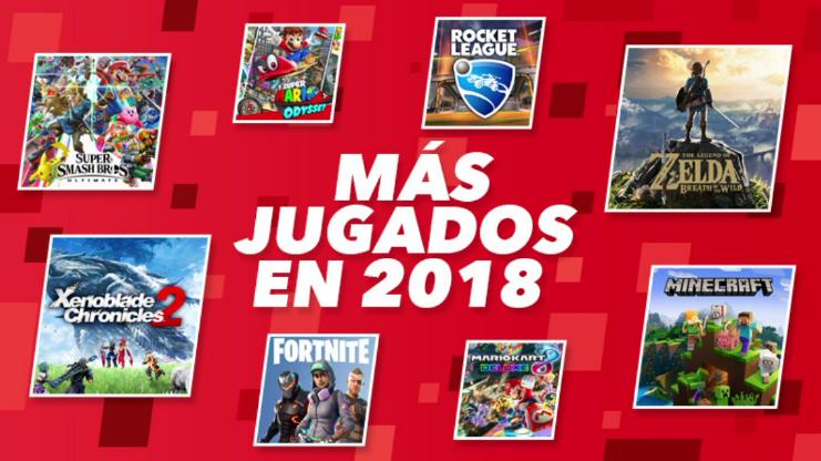 Estos han sido los juegos que más se han jugado en las Nintendo Switch de Europa en 2018 con Fortnite liderando la lista