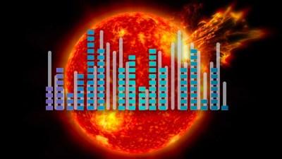 Si pudiésemos oír el Sol desde la Tierra sonaría tan fuerte como un taladro mecánico, un atasco o estar en la discoteca