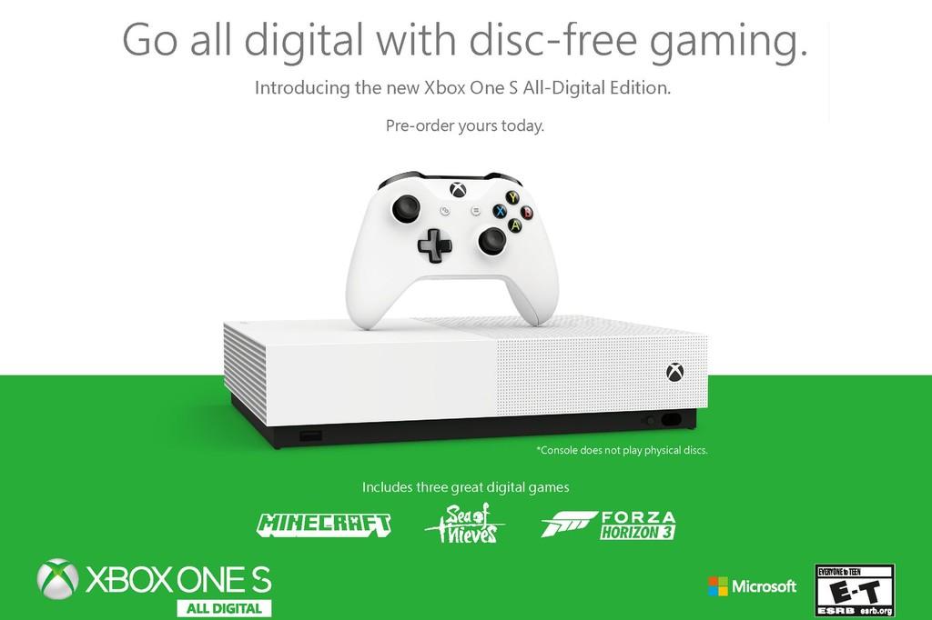Permalink to Xbox One S All-Digital Edition: la primera consola de Microsoft sin lector de discos y centrada en juegos digitales es oficial