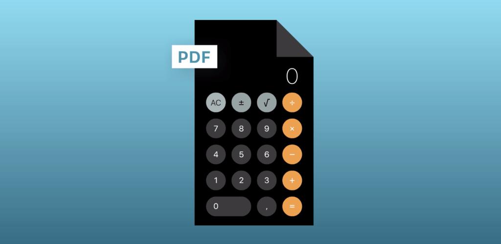 Como el iPad® continua sin traer calculadora, han construido una en PDF