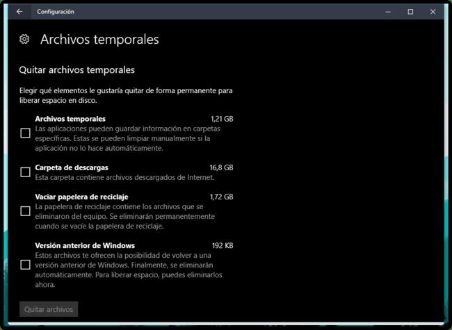Archivos Temporales Windows 10