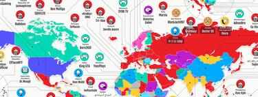 Los youtubers más populares de cada país del mundo, reunidos en un mapa