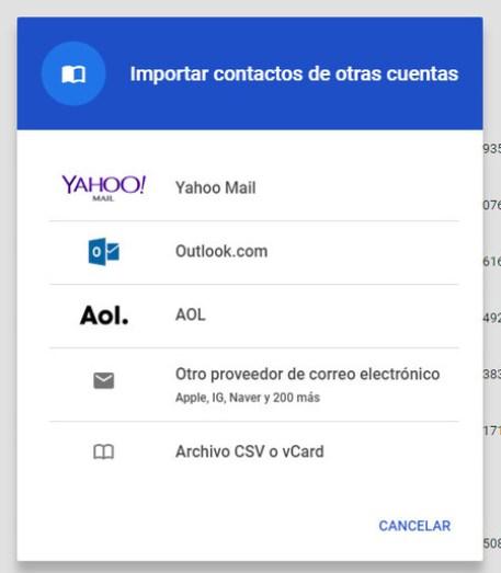 Contactos Google