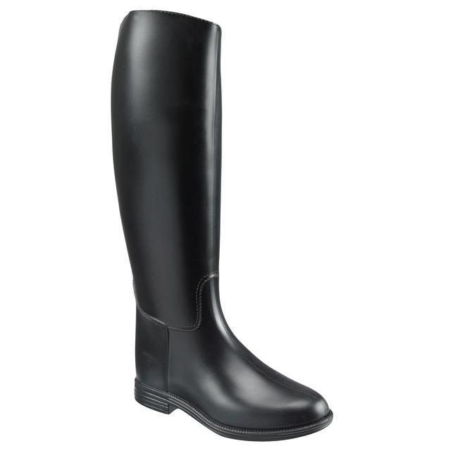 Riding Boots Fouganza Schooling Adult Black PVC