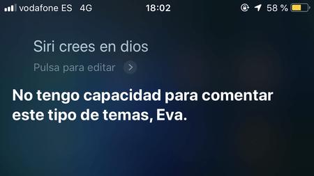 Eva pregunta a Siri