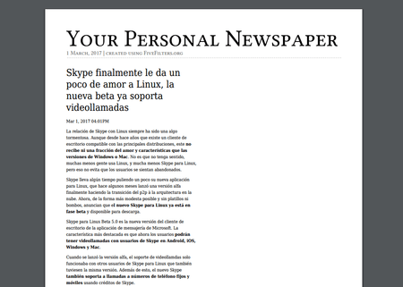 Your Personal Newspaper