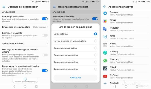 Opciones Desarrollo Android