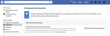 Ubicacion Facebook