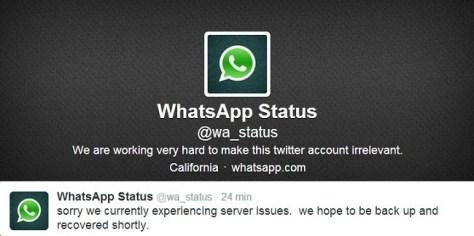 WhatsApp caido