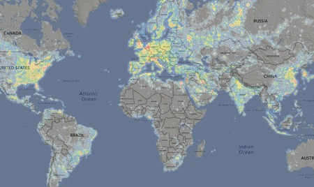 Window Y Light Pollution Map