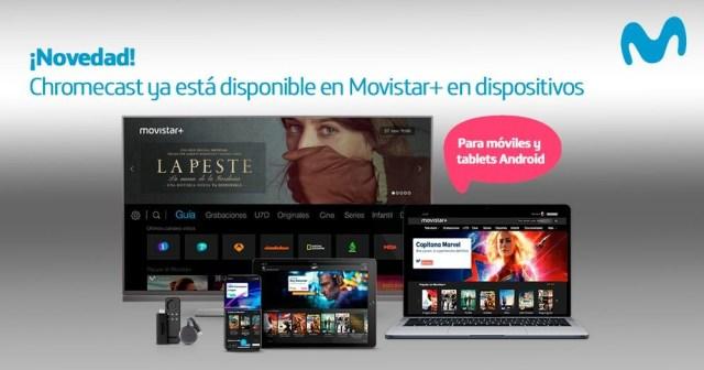Ya podréis visualizar Movistar+ a través del Chromecast℗ y anunciar contenidos del terminal a la televisión