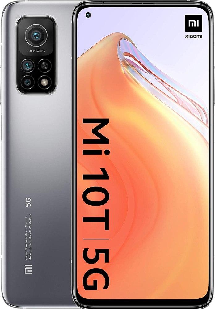 "Mobile - Xiaomi MI 10 T, Silver, 128 GB, 6 GB, 6.67"" Full HD+, Qualcomm Snapdragon 865, 5000 mAh, Android"