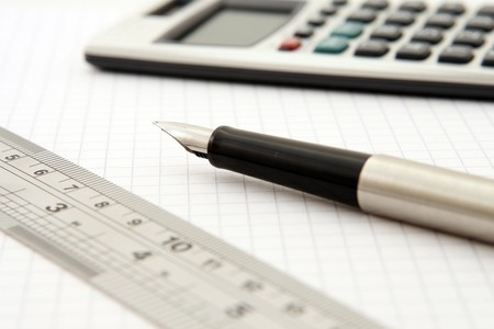 Calculator Close Up Fountain Pen 159722