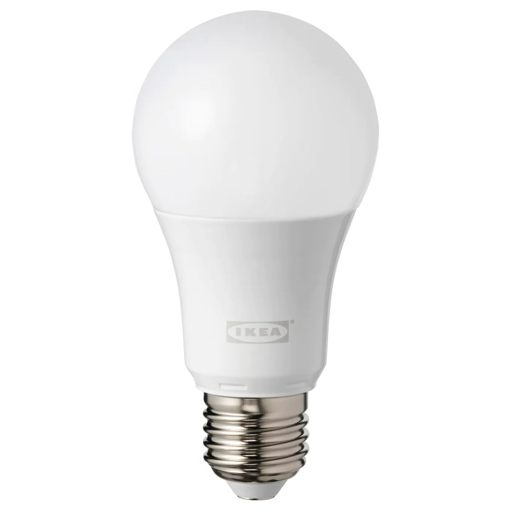 Bombilla LED E27 600 lúmenes, regulac lumin inalámbr color y espectro blanco/globo blanco ópalo