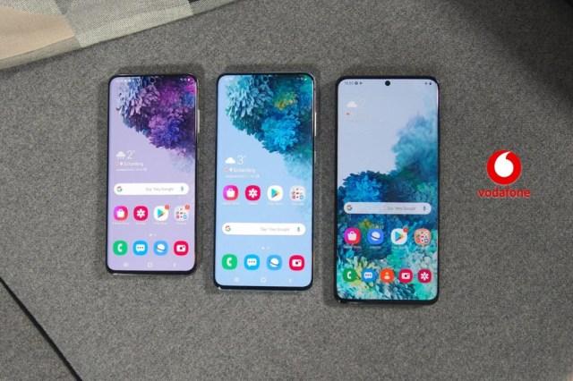 Precios Samsung℗ Galaxy℗ S20, S20+ y S20 Ultra con tarifas Vodafone