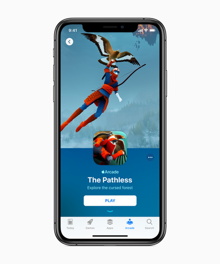 Apple Introduces Apple Arcade The Pathless Iphone Xs 03252019