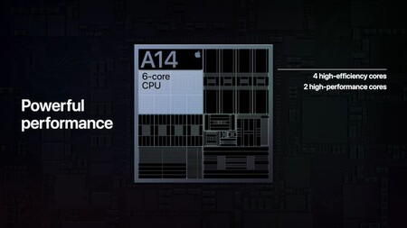This is the Apple A14, the processor of the iPhone 12 released on board the new iPad Air