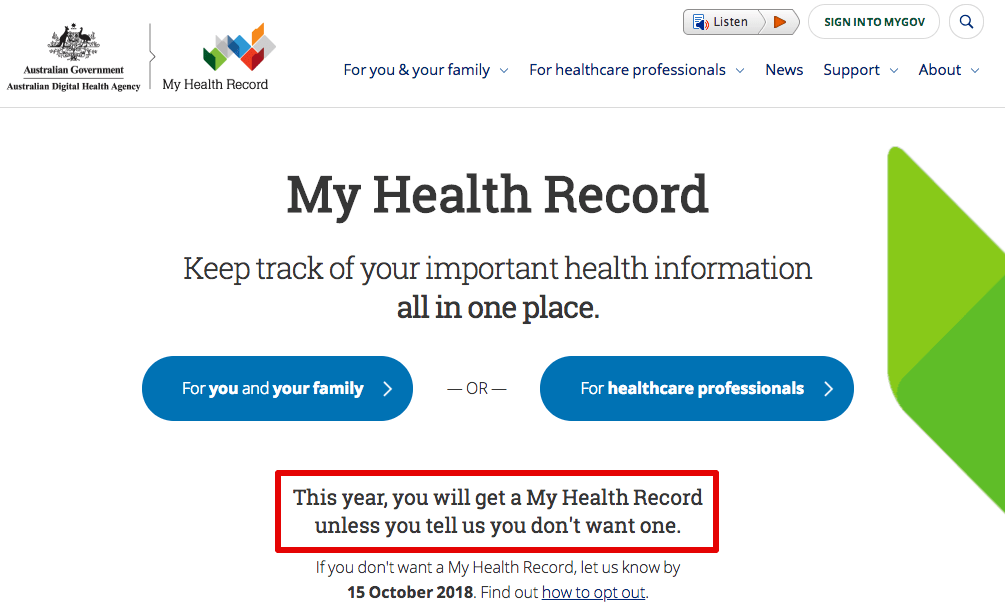 My Health Record 2018 07 16 16 29 04