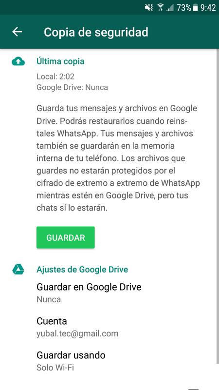 Copia De Seguridad Whatsapp