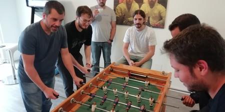 Futbolín Bernardo y el equipo