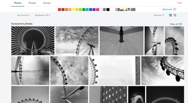 Búsqueda en Flickr
