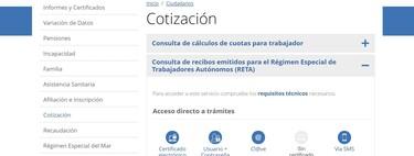 Cómo consultar online tus recibos de autónomo con la Seguridad Social