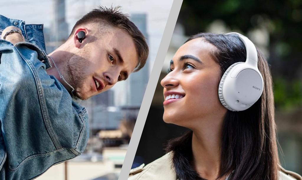 Sony presenta dos nuevos modelos de auriculares inalámbricos con cancelación de ruido y un precio más reducido