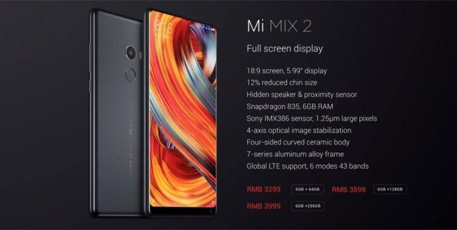 Xiaomi Mi Mix 02 Precios