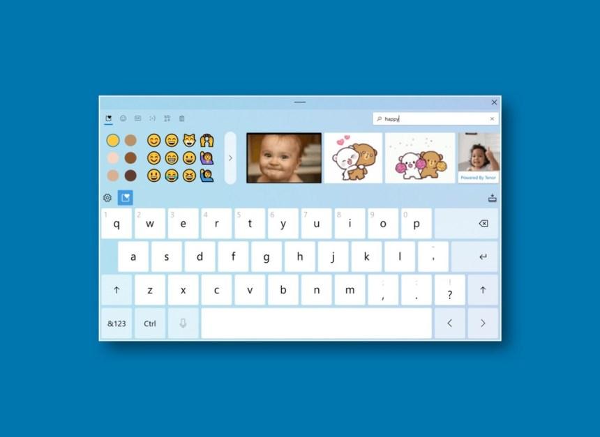 Windows 10 estrenará teclado con diseño renovado, emojis y búsqueda de GIFs