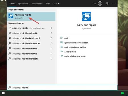 Asistencia Rapida Windows 10
